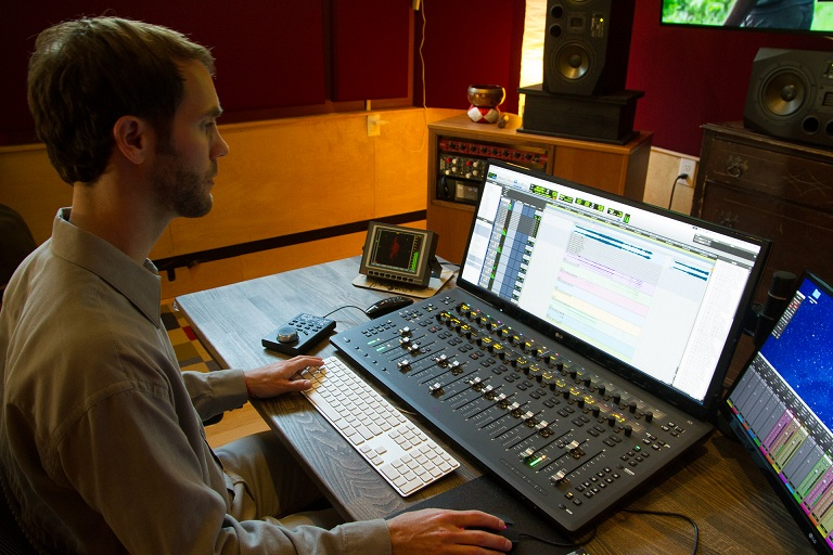 Kevin Lax in studio